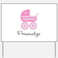 Personalized baby carriage Yard Sign