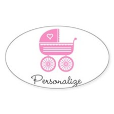 Personalized baby carriage Decal
