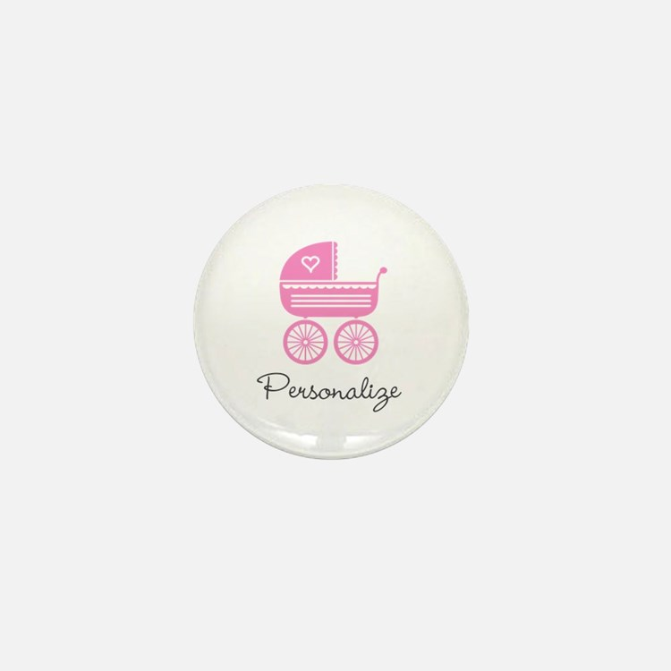 Personalized baby carriage Mini Button