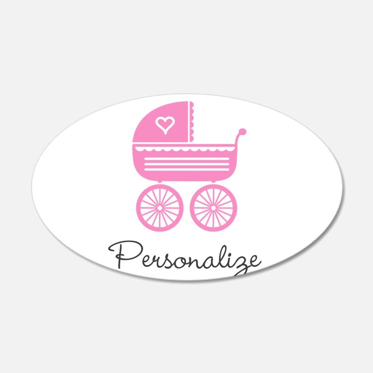 Personalized baby carriage Wall Decal