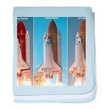 space shuttles baby blanket