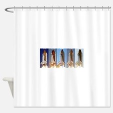 space shuttles Shower Curtain