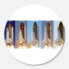 space shuttles Round Car Magnet