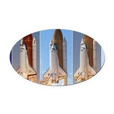 space shuttles Oval Car Magnet