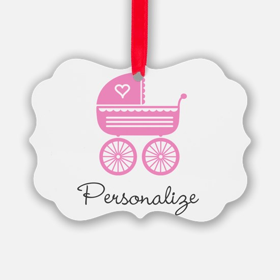 Personalized baby carriage Ornament