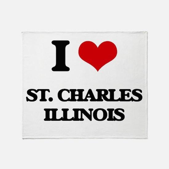 I love St. Charles Illinois Throw Blanket