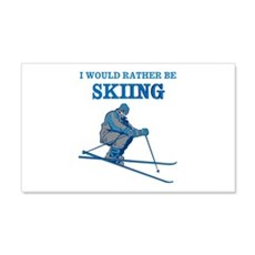 Rather Be Skiing Wall Decal