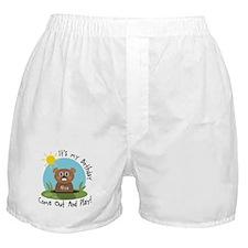 Aliya birthday (groundhog) Boxer Shorts