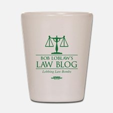 Bob Lablaw's Law Blog Shot Glass