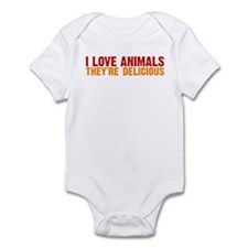I love animals they're delici Infant Bodysuit