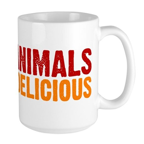 I love animals they're delici Large Mug