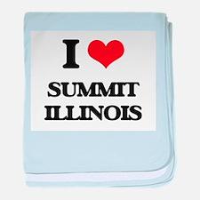 I love Summit Illinois baby blanket
