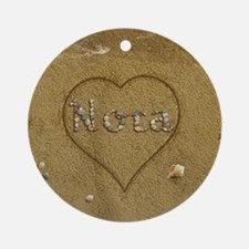 Nora Beach Love Ornament (Round)