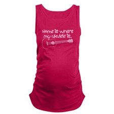 Girls Ukulele Maternity Tank Top