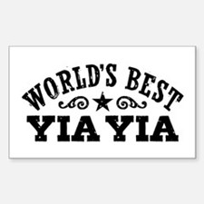 World's Best Yia Yia Decal