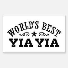 World's Best Yia Yia Sticker (Rectangle)