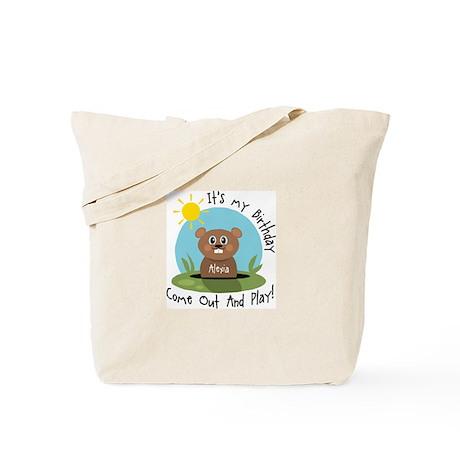 Alexia birthday (groundhog) Tote Bag