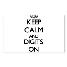 Keep Calm and Digits ON Decal