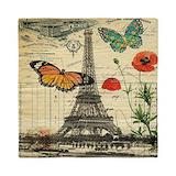 Butterfly eiffel tower Queen Duvet Covers