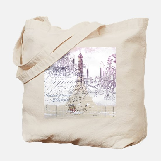 champagne chandelier eiffel tower Tote Bag