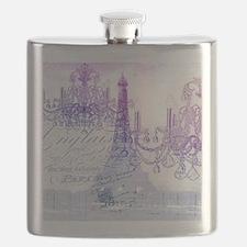 purple chandelier paris eiffel tower Flask