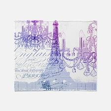 purple chandelier paris eiffel tower Throw Blanket