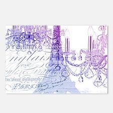 purple chandelier paris e Postcards (Package of 8)