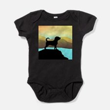 Puggle By The Sea Baby Bodysuit
