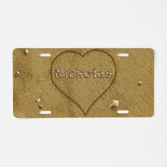 Nickolas Beach Love Aluminum License Plate