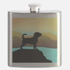 Puggle By The Sea Flask