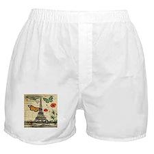 poppy butterfly eiffel tower Boxer Shorts