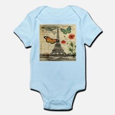 poppy butterfly eiffel tower Body Suit