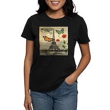 poppy butterfly eiffel tower T-Shirt
