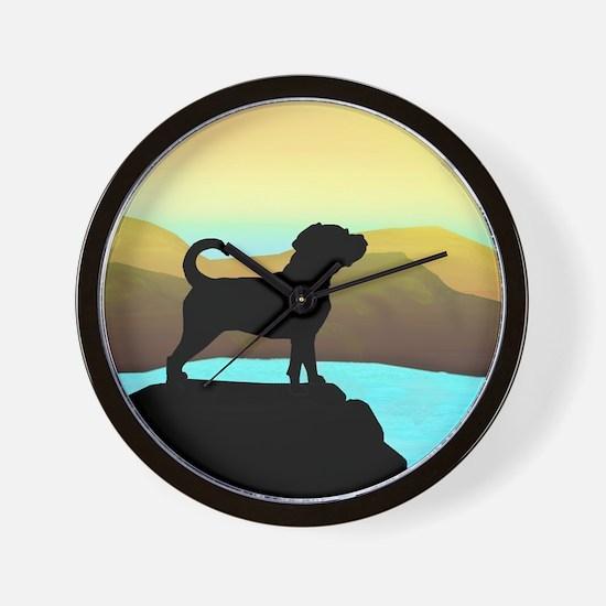 Puggle By The Sea Wall Clock
