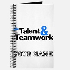 Baseball Talent And Teamwork (Custom) Journal