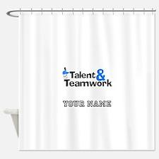 Baseball Talent And Teamwork (Custom) Shower Curta