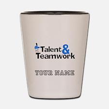 Baseball Talent And Teamwork (Custom) Shot Glass