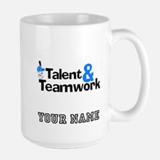 Baseball Talent And Teamwork (Custom) Mugs