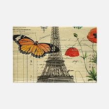 poppy butterfly eiffel tower Magnets