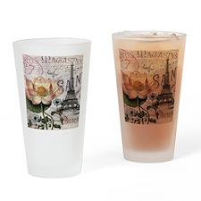 lotus flower eiffel tower Drinking Glass