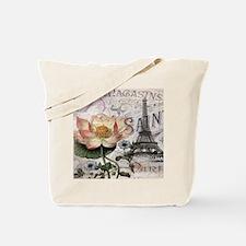 lotus flower eiffel tower Tote Bag