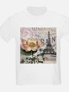 lotus flower eiffel tower T-Shirt