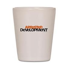Arrested Development Logo Shot Glass