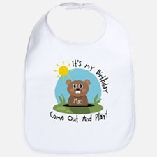 Maci birthday (groundhog) Bib