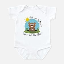Maci birthday (groundhog) Infant Bodysuit