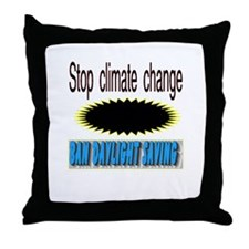 stop climate change Throw Pillow