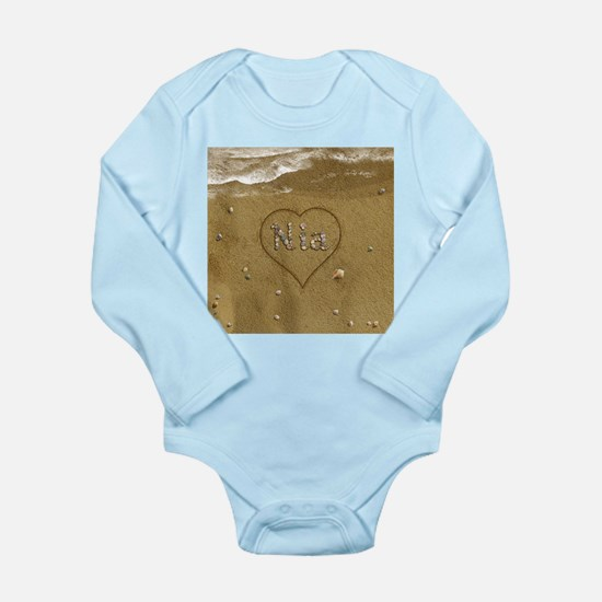 Nia Beach Love Long Sleeve Infant Bodysuit