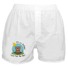 Justine birthday (groundhog) Boxer Shorts
