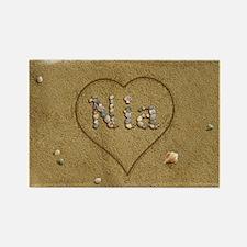 Nia Beach Love Rectangle Magnet
