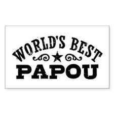 World's Best Papou Decal